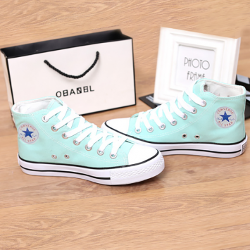 Giày Sneaker Nữ Cao Cổ Xanh Ngọc